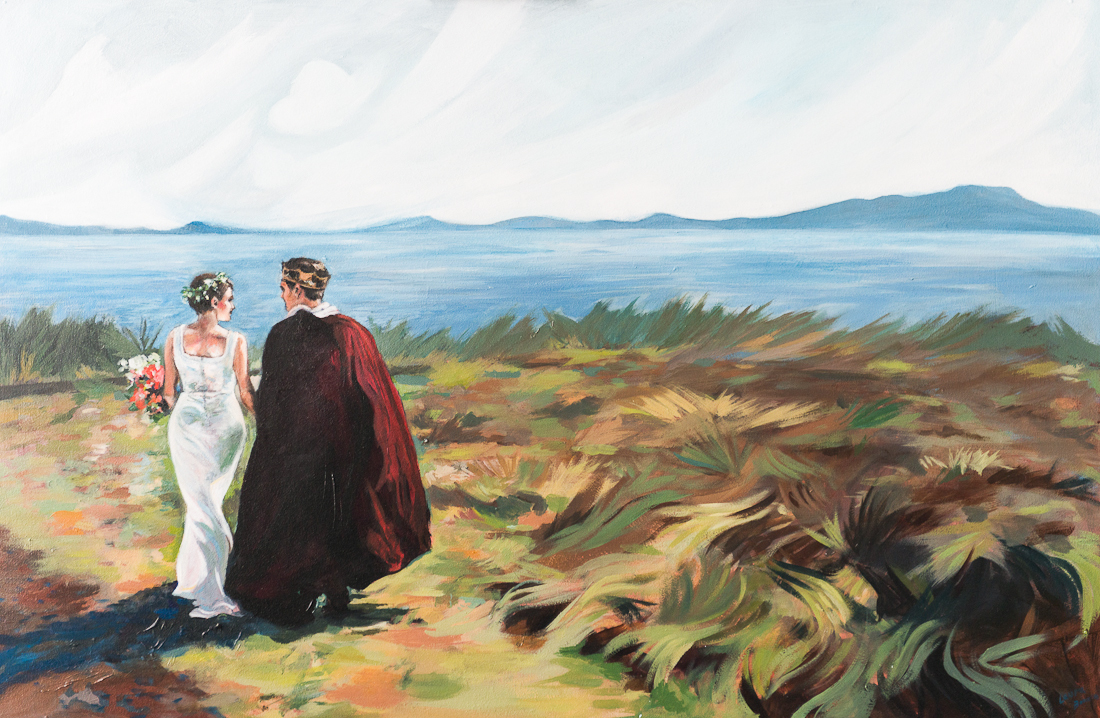 wedding commission painted by laura bonnie, victoria bc